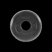 Диск обрезиненный Atlet, 2,5 кг_1