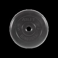 Диск обрезиненный Atlet, 5 кг_0