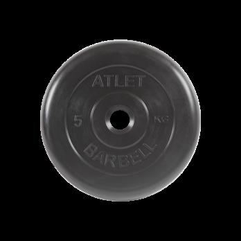 Диск обрезиненный Atlet, 5 кг