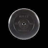 Диск обрезиненный Atlet, 15 кг_0