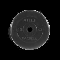 Диск обрезиненный Atlet, 15 кг_1