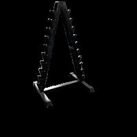 Стойка для хранения хромированных гантелей фитнес на 10 пар