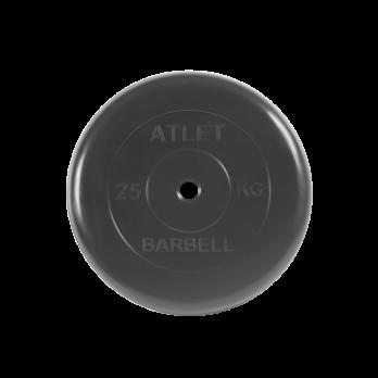 Диск обрезиненный Atlet, 25 кг