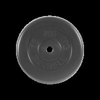 Диск обрезиненный, черного цвета Стандарт 15кг