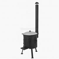 Комплект казан на 6-22 литра + печка с дверцей и дымоходом