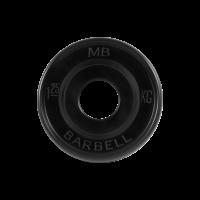 Диск обрезиненный, черный, евро-классик 1,25 кг