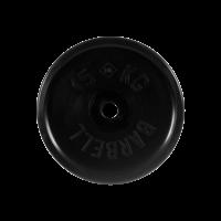 Диск обрезиненный, черный, евро-классик 15 кг