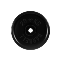 Диск обрезиненный, черный, евро-классик 20 кг