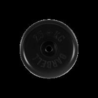 Диск обрезиненный, черный, евро-классик 25 кг