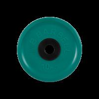 Диск обрезиненный, зеленый, евро-классик 10 кг