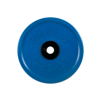 Диск обрезиненный, синий, евро-классик 20 кг