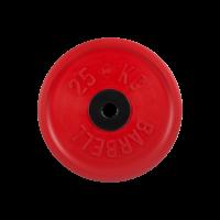 Диск обрезиненный, красный, евро-классик 25 кг