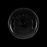 Диск обрезиненный, черный, евро - классик с ручками, 25 кг