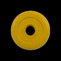 Диск обрезиненный, желтый, Standart 1,25 кг