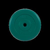 Диск обрезиненный, зелёный, Standart 10 кг