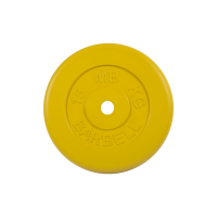 Диск обрезиненный, жёлтый , Standart 15 кг
