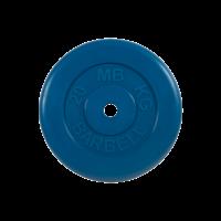 Диск обрезиненный, синий, Standart 20 кг