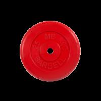Диск обрезиненный, красный, Standart 25 кг