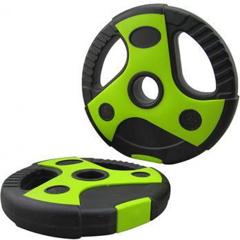 Диск пластиковый/цемент чёрный с зелеными вставками 5 кг