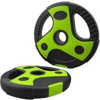 Диск пластиковый/цемент чёрный с зелеными вставками 7,5 кг