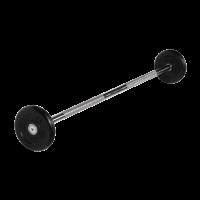 Штанга неразборная 10 кг с черными дисками