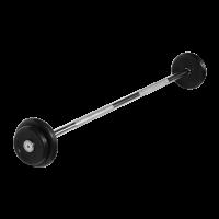 Штанга неразборная 12,5 кг с черными дисками