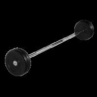 Штанга неразборная 25 кг с черными дисками.
